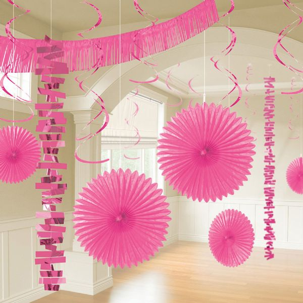 Bright Pink Room Decoration Kit (18)